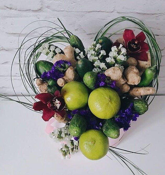 Букет Овощная валентинка