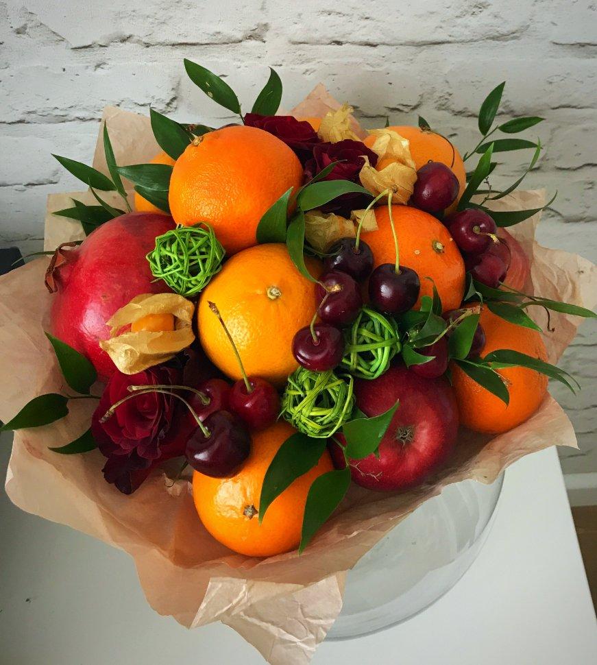 Как сделать фруктовый букет своими руками фото