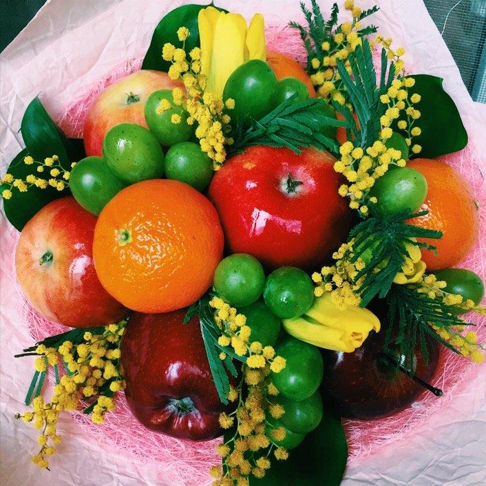Поздравление с фруктами и овощами на день рождения 4