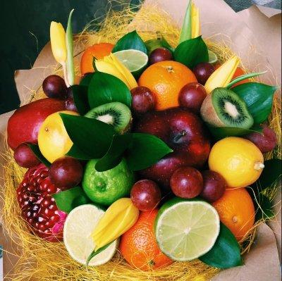 Поздравление на день рождения с фруктами 3
